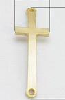 Element de conectare cruce metalică 43x14x2 mm gaură 2 mm culoare aur -2 piese