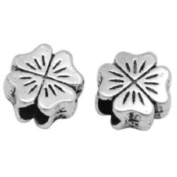 Bead metal clover 10x10x6 mm hole 4 mm -10 pieces