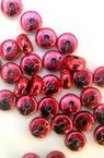 Cerc metalizat de margele 6x3 mm roșu -50 grame