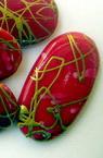 Margele aur fir   cilindru  28x16 mm roșu -50 grame