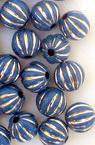 Мънисто сребърна нишка топче портокал 8 мм дупка 2 мм цвят син -50 грама ~180 броя