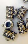 Cilindru metalic cu margele cu inel 10x9 mm orificiu 4 mm argintiu -50 grame ~ 210 bucăți