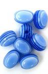 Цилиндър овал 12x9 мм синьо светло рае -50 броя