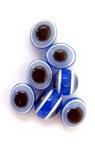 Цилиндър овал око 10x8 мм син 4цвята -50 броя