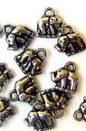 Κρεμαστό μεταλιζέ ελέφαντα 9x10 mm τρύπα 1,5 mm ασήμι -50 γραμμάρια ~ 440 τεμάχια