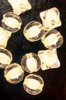 Transparent Acrylic Round Beads, Bead in Bead, White Core 9x8 mm hole 2 mm - 50 grams ~ 125 pieces