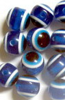 Evil eye, Beads, Round, Resin, Hole size 2mm. , 10mm - 50pcs