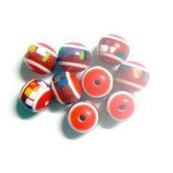 Топче 12 мм червено шарено -50 броя