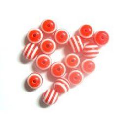 Топче 8 мм дупка 2 мм резин червено -50 броя