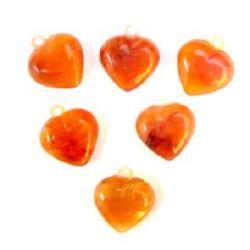 Сърца 2 мм с халка тъмен кехлибар прозр -50 гр