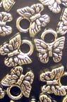 Пеперуда метализе сребро с черен кант с халка 11x9 мм -50 грама