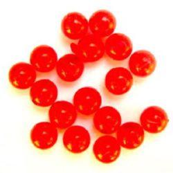 Χάντρα απομίμηση κρύσταλλο στρόγγυλο 10mm τρύπα 1,5mm κόκκινο -50 γραμμάρια ~ 85 τεμάχια