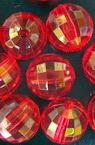 Χάντρα απομίμηση κρύσταλλο στρόγγυλο 12mm τρύπα 1,5 mm κόκκινο -50 γραμμάρια