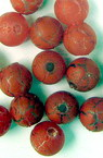 Acrylic crackle ball bead 8 mm red - 50 grams