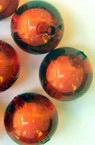 Margele  bilă albă de bază de 16 mm roșu -50 grame
