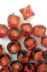 Margelă  bile de bază albe quad 7,5x8 mm gaură 2 mm roșu -50 grame ~ 170 bucăți