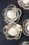 Perlă de flori albe 12x8mm găură 2mm transparentă -50g ~ 100 buc
