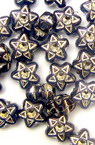 Звезда 7 мм имитация камъче синя -50 грама