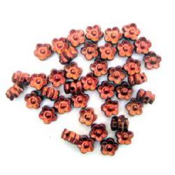 Floare 7x4 mm 5 frunze roșu -50 grame