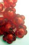 Perlă de flori albe 12x8mm Gaură 2mm Roșu -50g ~ 100 buc