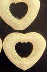 Inima brocart alb de 28 mm cu gaură -50 grame -25 bucăți