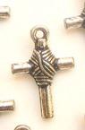 Pandantiv CCB  forma cruce 18x29x5,5 mm gaură 2,5 mm -20 grame