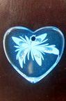 Κρεμαστό καρδιά μεγάλο διαφανές μπλε -10 τεμάχια