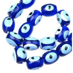 Наниз мъниста око синьо 10x12 мм ~50 броя