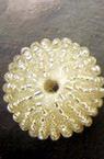 Топче 25 мм облечено със сребърна мъниста -10 броя