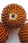 Bilă de 25 mm îmbrăcată cu margele de aur vechi -10 bucăți