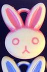 Rabbit pendant 25x31 mm MIX - 20 pieces
