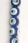 Bilă albastră forma ochi 8 mm gaură 1 mm -50 bucăți
