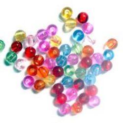 Bile de cristal Bile 5mm Gole 1mm Mix -50g ~ 750buc