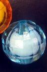 Bile  margele albe de bază multistratate 25 mm MIX -50 grame