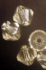 Margele cristal 12 mm transparent -50 grame ~ 70 bucăți