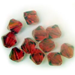 Crystal bead 12 mm red -50 grams ~ 70 pieces