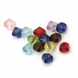 Crystal bead 12x12 mm hole 2 mm MIX -50 grams ~ 70 pieces