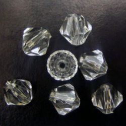Crystal bead 14x14 mm hole 2 mm transparent -50 grams ~ 47 pieces