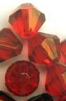 Χάντρα απομίμηση κρύσταλλο 14x14 mm τρύπα 2 mm κόκκινο- 50 γραμμάρια ~ 47 τεμάχια