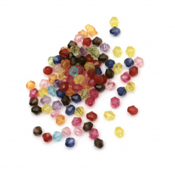 Crystal bead 4x4 mm hole 1 mm MIX -50 grams ~ 2100 pieces