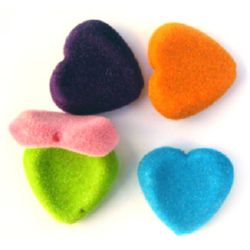 Сърце с мъх 3 мм МИКС -50 грама