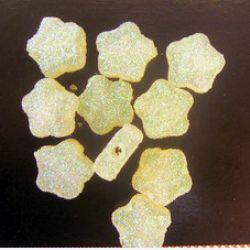 Χάντρα λουλούδι χρυσόσκονη 13 mm λευκό -50 γραμμάρια