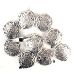 Bead metallic oval 17x6 mm hole 2 mm color silver -50 grams ~ 42 pieces