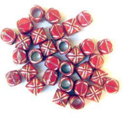 Буре 7,5 ммдупка 5 мм червено - 50 грама