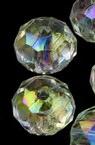 Мънисто кристал шайба 6х4 мм дупка 1 мм прозрачно ДЪГА многостен -20 грама ±250 броя