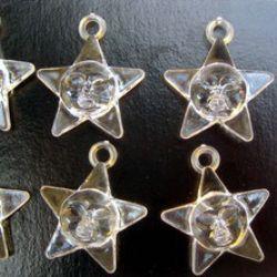 Pandativ stea  de cristal  23 mm transparent -50 grame