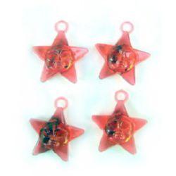 pandativ stea de cristal  23 mm roșu -50 grame