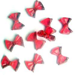 Margele forma funda de cristal 9x13mm Gaură 1.5mm Roșu -50g ~ 200 buc