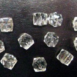 Margele forma pietre de cristal pietricel 19 mm transparent -50 grame