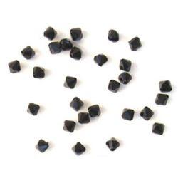 Χάντρα απομίμηση κρύσταλλο 8x8mm Τρύπα 1mm Μαύρο -50 γραμμάρια ~ 240 τεμάχια
